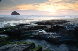 Sunset at Trebarwith Strand