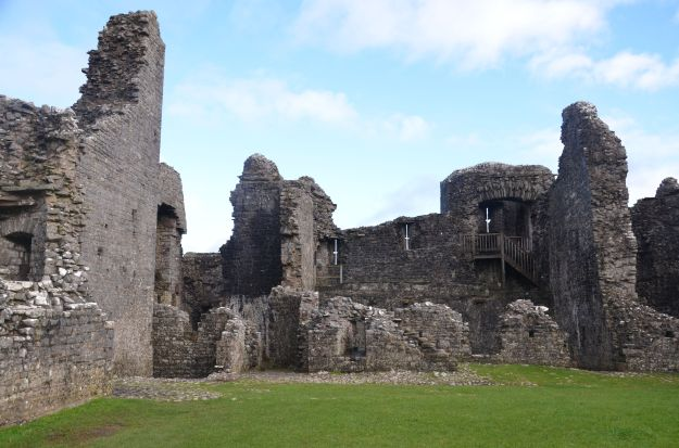 Interior at Carreg Cennen Castle