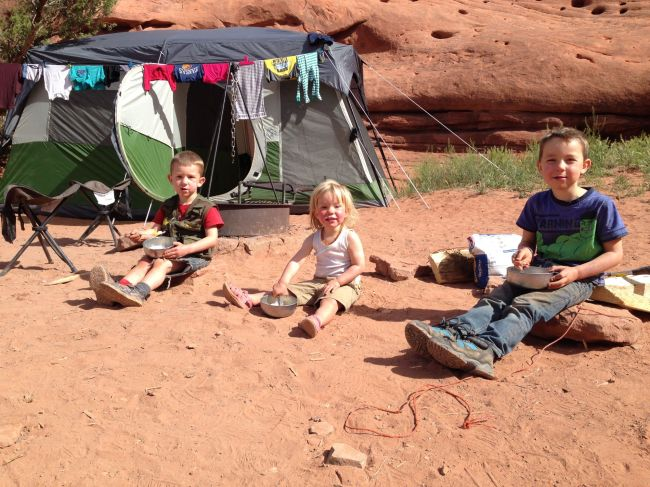 Camping at Canyonlands