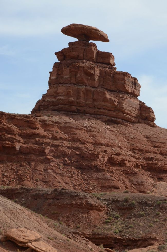 Mexican Hat Rock in Navajo Nation