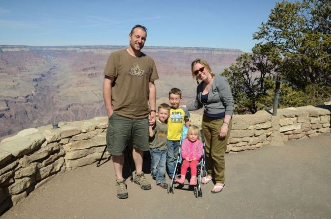 Muma Dean and team at Grand Canyon