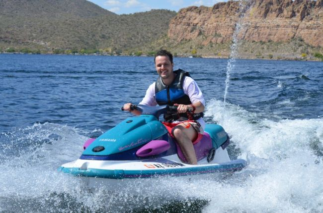 Jet Skiing at Saguaro Lake, Arizona