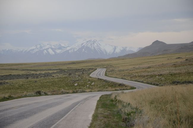 Road on Antelope Island, Great Salt Lake