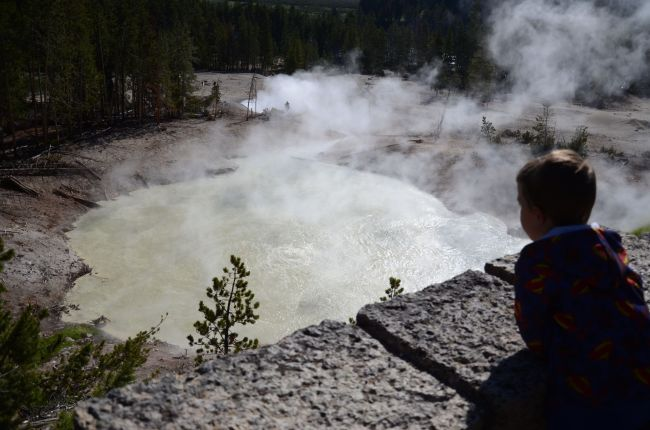 Boiling mud pots at Yellowstone