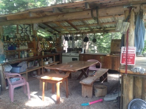 The outdoor kitchen at Bruce and Pat's in Montana... the inspiration for a Dunmore Farm version.