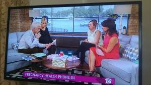 Me on This Morning with Philip Schofield and Holly Willoughby talking about hyperemesis gravidarum